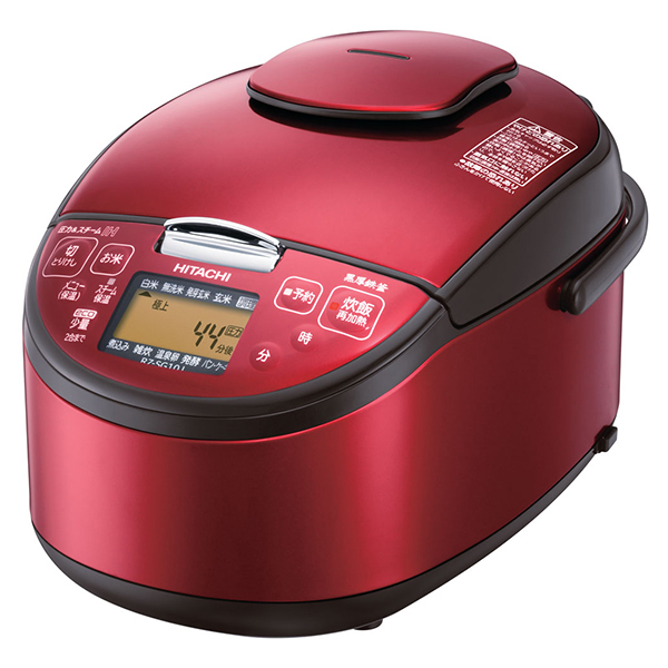 日立 RZ-SG10J-R レッド 極上炊き [圧力スチームIH炊き飯器(5.5合炊き)・・・
