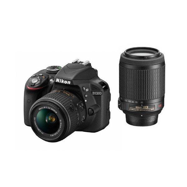 Nikon D3300 ダブルズームキット ブラック [デジタル一眼レフカメラ (2416万・・・