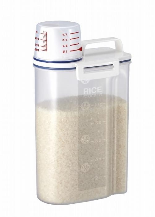アスベル(ASVEL) unix ware 密閉米びつ2kg(パッキン付) ホワイト 7509 商品画像2:リライフプラザ カーゴ店