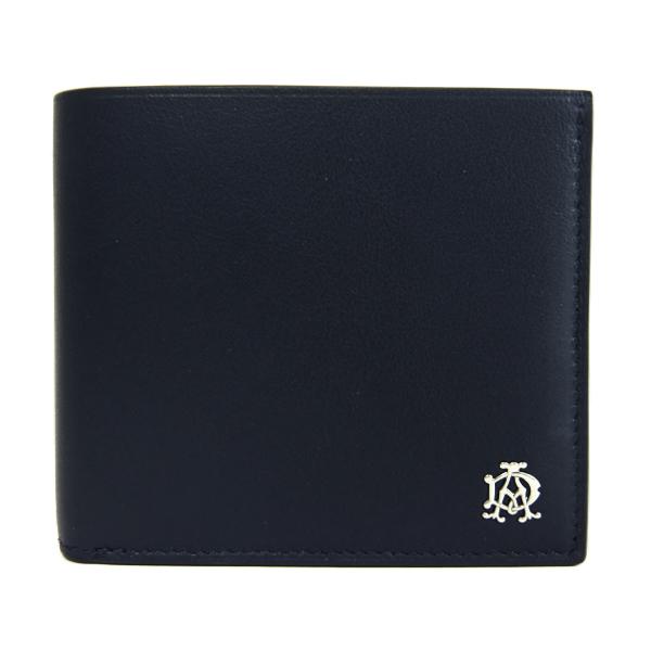 ダンヒル アウトレット Dunhill L2XR32A レザー 二つ折り財布:ブラック l2xr・・・