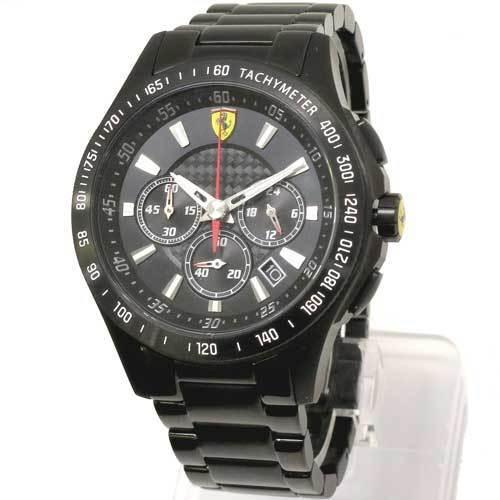 Scuderia フェラーリ Ferrari ブラックトーン ダイヤル Black-Tone Dial SS ・・・
