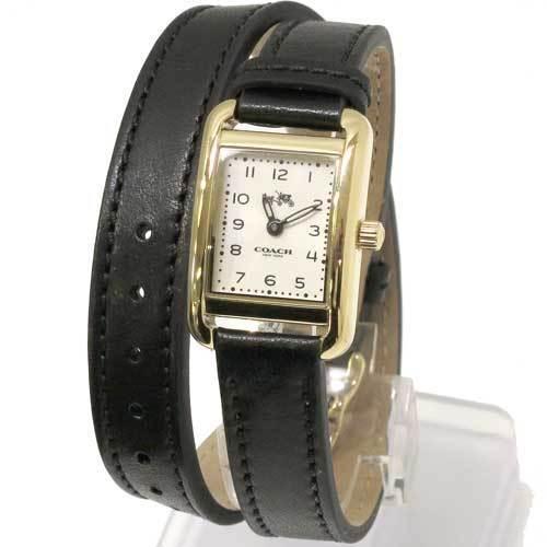 COACH コーチ トンプソン ダブル ラップ レザー レディース  腕時計 1450229・・・