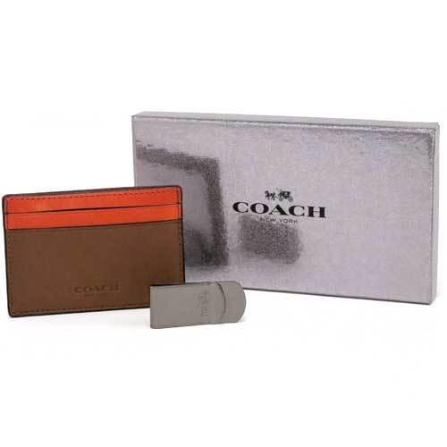 コーチ パスケース COACH  レザー メンズ マネークリップ  カードケース ギフ・・・