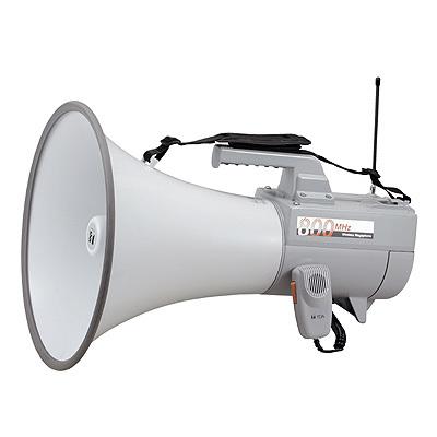 TOA 【抗菌】大型800MHzワイヤレスメガホン(ホイッスル音付、最大出力45W) ER・・・