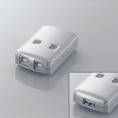 エレコム USB2.0手動切替器 2切替 USS2-W2