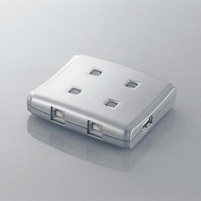 エレコム USB2.0手動切替器 4切替 USS2-W4