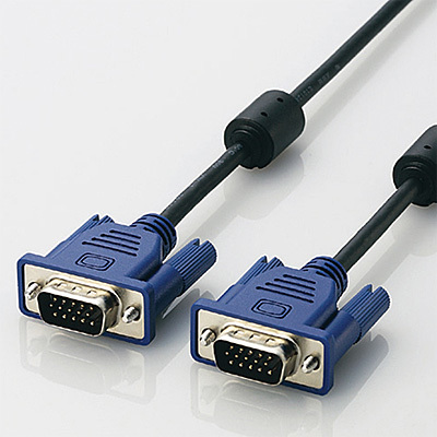 エレコム RoHs対応D-sub15ピン(ミニ)ケーブル/スリム/5m/ブラック CAC-50BK/R・・・