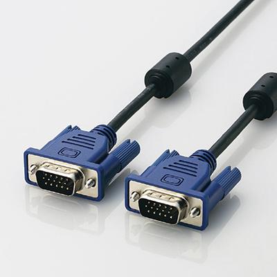 エレコム RoHs対応D-sub15ピン(ミニ)ケーブル/スリム/0.7m/ブラック  CAC-07B・・・