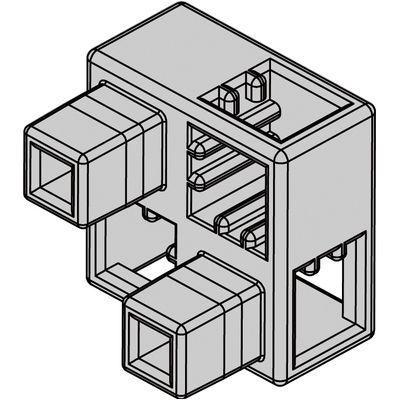 アーテック Artecブロック ハーフB 8P 薄グレー ATC-77791