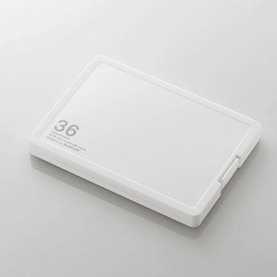 エレコム メモリカードケース/インデックス台紙付き/SD18枚+microSD18枚収納/・・・