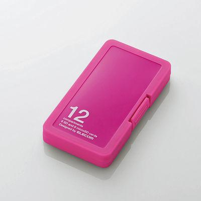 エレコム メモリカードケース/インデックス台紙付き/SD6枚+microSD6枚収納/ピ・・・