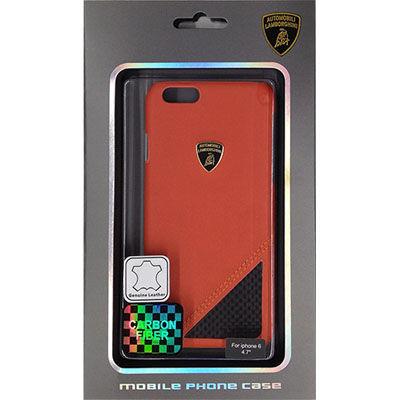 Lamborghini(ランボルギーニ) 【iPhone 6】Genuine leather back cover w/car・・・