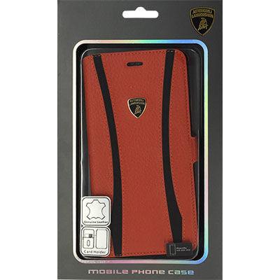 Lamborghini(ランボルギーニ) 【iPhone 6 Plus】Genuine Leather book case w・・・
