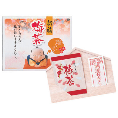 三盛物産 【100個セット】招福 梅茶 [梅茶2g×1袋、おみくじ] SF-1・・・