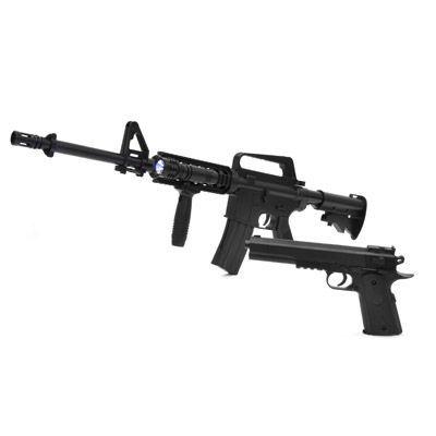 ベルソス エアガンキット M4モデル&コルトモデルセット VS-C-M4 ブラック×・・・