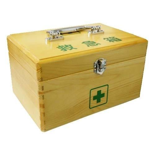 日進医療器(衛生用品) 木製救急箱 Lサイズ(衛生用品セット付) E313122・・・