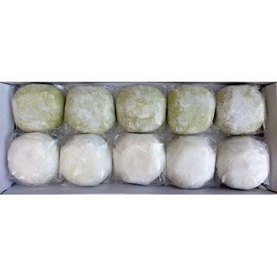 鈴木園 【のし・包装可】抹茶大福10個+クリーム小豆大福10個 化粧箱入詰合せ・・・