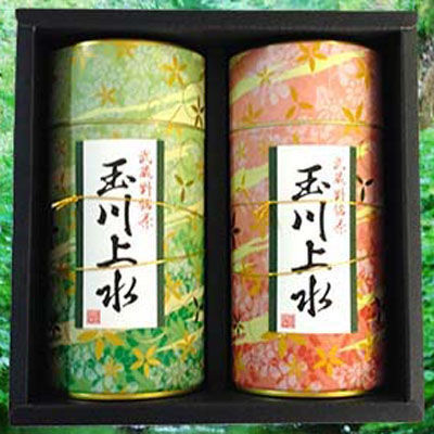 鈴木園 【のし・包装可】狭山茶「玉川上水」ギフト(草・桃)100g×2(200g) SZK・・・