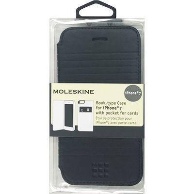 エアージェイ iPhone7専用エンボス加工手帳型ケース MOFLBKP7DLB・・・
