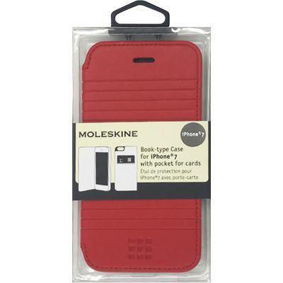 エアージェイ iPhone7専用エンボス加工手帳型ケース MOFLBKP7DLR・・・
