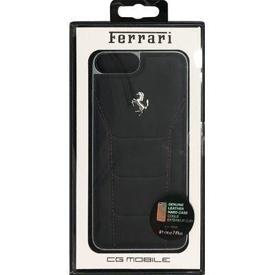 エアージェイ iPhone7 Plus専用シルバーロゴ本革ハードケース FESEHCP7LBK・・・