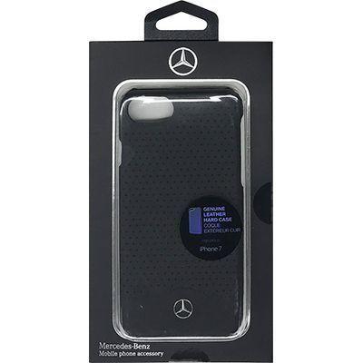 エアージェイ iPhone7専用本革パンチングデザインハードケース MEHCP7CSPEB・・・