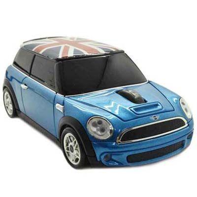 LANDMICE ミニクーパー(Union Flag) 無線マウス 2.4G ブルー MINI-COPSU-BL ・・・