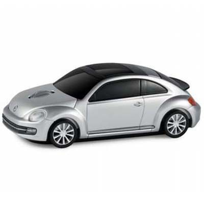 LANDMICE フォルクスワーゲン ビートル 無線マウス 2.4G シルバー VW-BEETLE-・・・