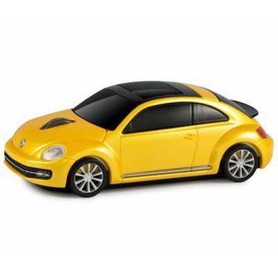 LANDMICE フォルクスワーゲン ビートル 無線マウス 2.4G イエロー VW-BEETLE-・・・