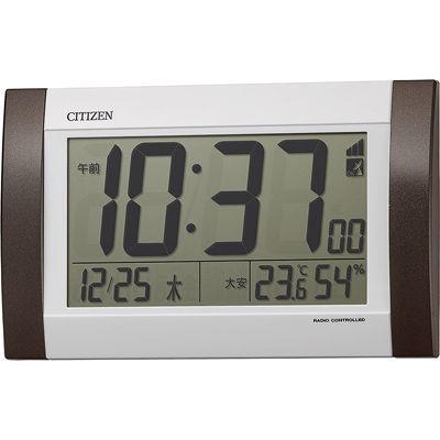 リズム時計 掛置き兼用電波時計 8RZ188-006 茶メタリッ・・・