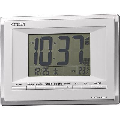 リズム時計 掛置き兼用電波時計 8RZ185-003 白
