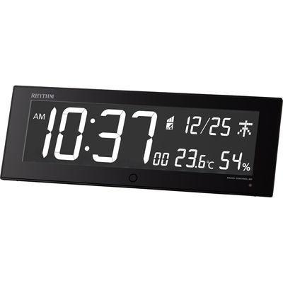 リズム時計 電波時計 Iroria G 8RZ184SR02 黒