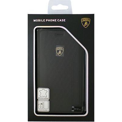 エアージェイ Genuine Leather S-Skin Flip Case - Black ランボルギーニ LB-・・・