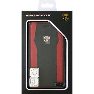 エアージェイ Genuine Leather S-Skin Flip Case - Red ランボルギーニ LB-TP・・・