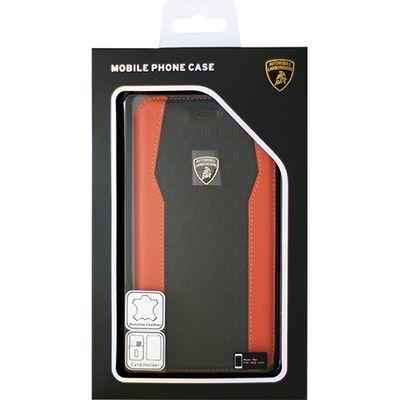 エアージェイ Genuine Leather S-Skin Flip Case - Orange ランボルギーニ LB・・・