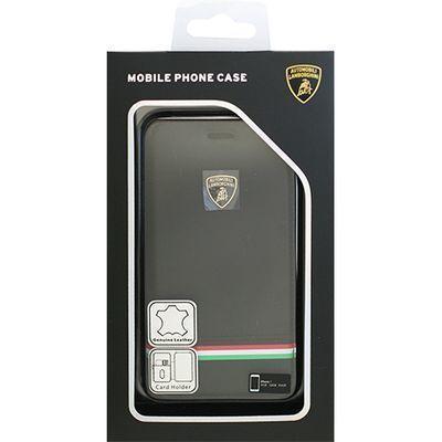 エアージェイ Genuine Leather Ultra Slim Flip Case - Black ランボルギーニ・・・