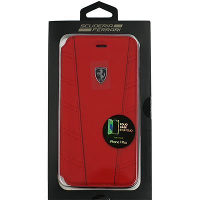 エアージェイ FERRARI PU leather Booktype Case with contrasted piping - R・・・