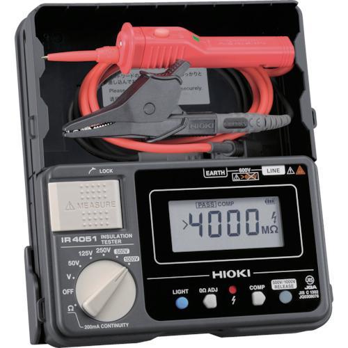 日置電機 HIOKI 5レンジ絶縁抵抗計 スイッチ付きリード IR405111 45360360005・・・