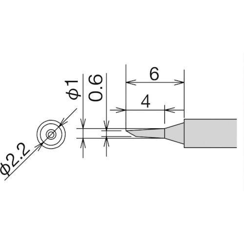 太洋電機産業 グット 替こて先 0.6C型 RX-812AS/802AS RX81HRT0.6・・・