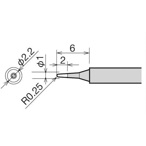太洋電機産業 グット 替こて先 B型 RX-812AS/802AS RX81HRTB