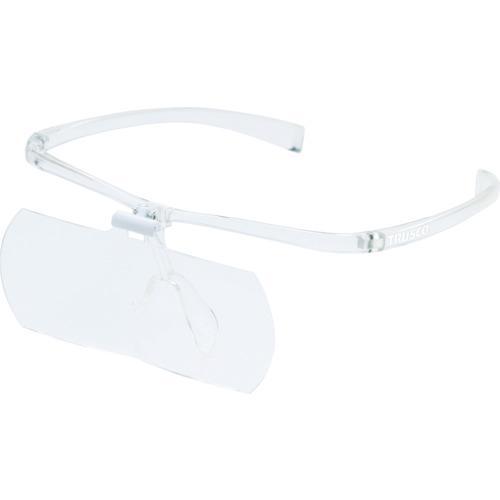 トラスコ中山 TRUSCO 双眼メガネルーペ2倍 フレーム透明 TSM2.0T・・・