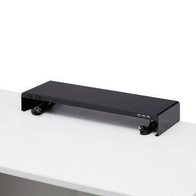 サンワサプライ 電源タップ+USBポート付き机上ラック(W600×D200ブラック) MR・・・