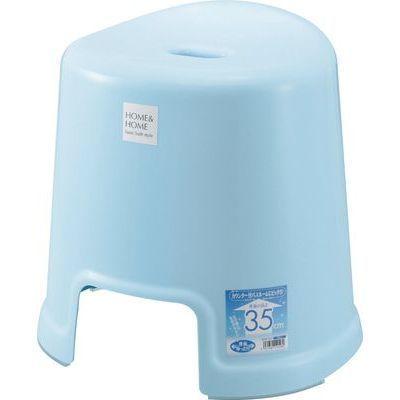 リス 風呂椅子 HOME&HOME 高さ35cm ブルー ( バスチェア 風呂 いす ) 497188・・・