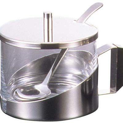 ガラス シュガーポット №8073W スキ EBM-7543700