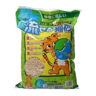 ヒノキ ひのきとおからで出来た流せる猫砂 8L E004879H