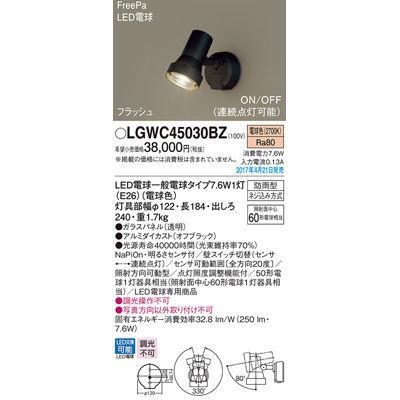 パナソニック エクステリアライト LGWC45030BZ