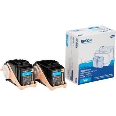 エプソン 環境推進トナー(V) LP-S7100用 シアン2本パック (Mサイズ/6、500ペ・・・