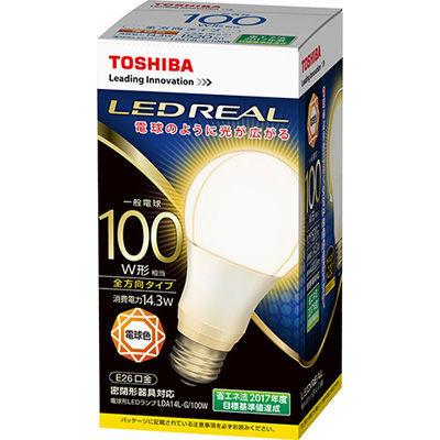 東芝 LED電球一般電球形100W形相当 全方向タイプ LDA14L-G/100W 電球・・・