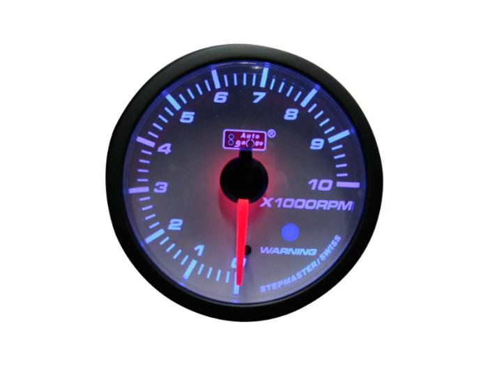 オートゲージ タコメーター 自動車用メーター ag-tc60smw [ホワイトフェイスS・・・