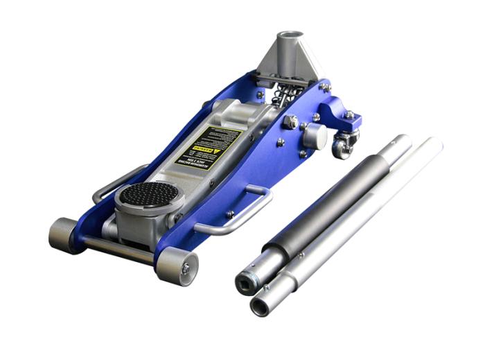アルミジャッキ 2t 青 / 油圧式 ガレージジャッキ 耐荷重2000k・・・